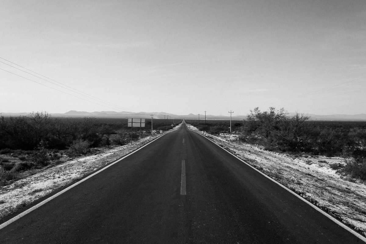 Highway leading to Municipio Catorce, municipality in San Luis Potosi in central Mexico where the ranch of El Tecolote is located.